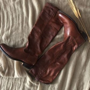 Frye Dorado Low Brown Leather Riding Boots Size 6